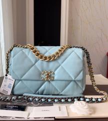 Tiffany blue chanel flap 19 tasna