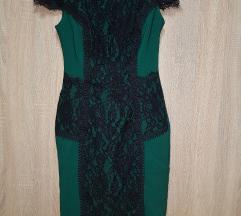 Zelena haljina do kolena