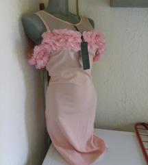 Nova K roze haljina sa cveticima S