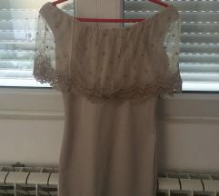 Krem haljinica