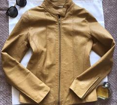 FIOCCHI italijanska kozna jakna karamel boje S