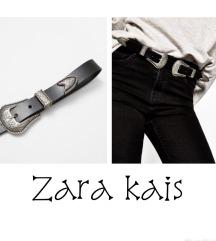 Zara cowboy crni kozni kais 🖤⚫️🖤