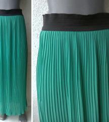 suknja duga sitno plisirana broj M