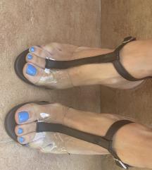 Sandale sa providnom stiklom