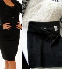 Crna pencil klasicna suknja