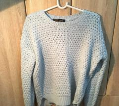 Novi svetloplavi Fishbone džemper