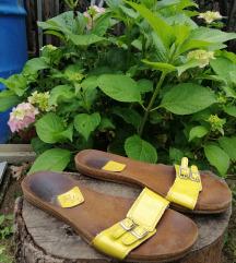 ZARA casual žute papučice