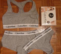 Calvin klein set sivi + poklon gace ck bele