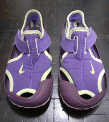 Original Nike gumene ljubicaste sandale,25-26,16cm