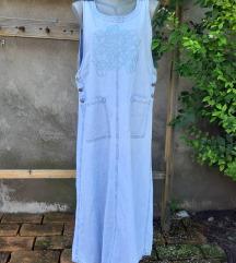 Retro teksas haljina sa vezom