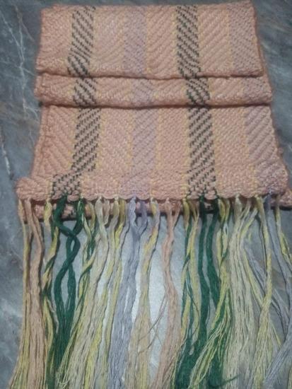 Nov šal ručno tkanje
