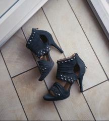 Crne, kozne sandale