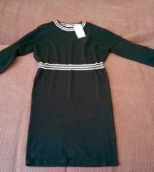 Orsay crna haljina dugih rukava, NOVO