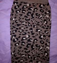Zimska animal print suknja