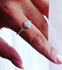 Srebrni prsten Podesiv NOVO