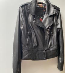 Nova crna kozna jakna M