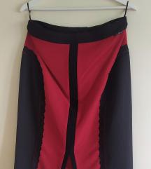 Vogeli crno crvena suknja sa cipkanim detaljima