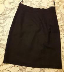 ONLY braon pencil suknja 100% vuna NOVO