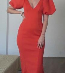 NOVA ASOS Design haljina sa puf rukavima