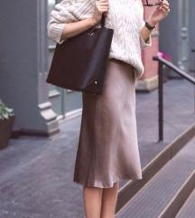 Krem poslovna suknja L