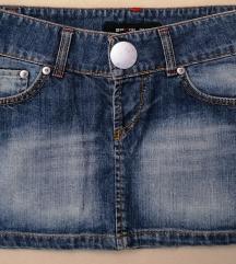 Kratka teksas suknja