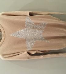 roze džemper sa srebrnom zvezdom - SADA 1300