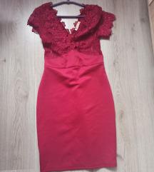 Crvena haljina sa cipkom