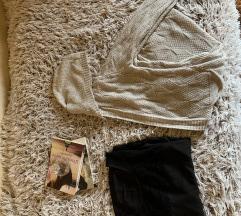 Kardigan dug i vero moda bluza