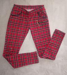 Karirane italijanske pantalone/helanke
