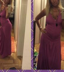 Duga ciklama haljina