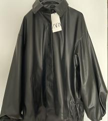 Zara kožna jakna sa etiketom