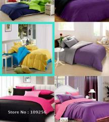 Dvobojne posteljine 100% pamuk