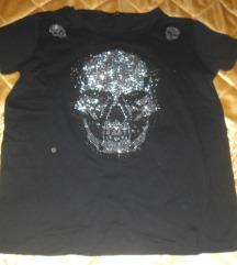 Crna majica sa mrtvackom glavom XL, novo