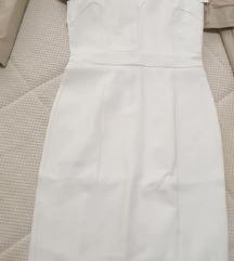 Bela uska haljina do kolena