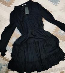 Crna Reserved haljina s volanima