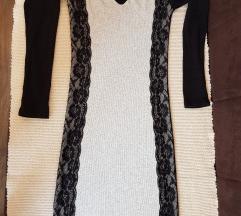 Siva haljinica sa cipkom