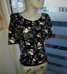 Crna pamucna cvetna majca