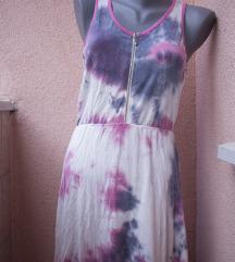 Hippie tie-dye haljinica sa zipom i prorezom