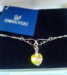 Swarovski Cristal Wings, Srebro 925, NOVO