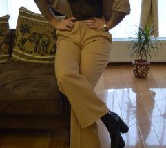 Braon poslovne pantalone