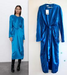 ZARA safir plava haljina