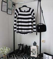 Crno-bela bluza/džemper Tally Weijl
