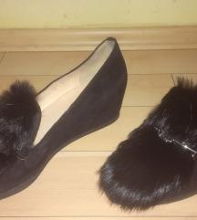 HOGL savrsene kozne cipele sa prirodnim krznom