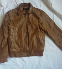 Muška braon jakna od kvalitetne kože S/M