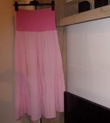suknja duga roze