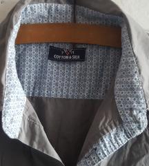 Nova Cotton&Silk siva kosulja kratkih rukava, L