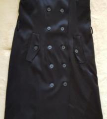 Nova limited Zara crna midi haljina