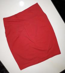 Pamučna suknjica crvena i plava