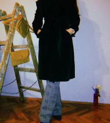 Vintage tamno zeleni somotni kaput