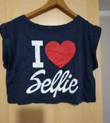 Crop top 'I love selfie'
